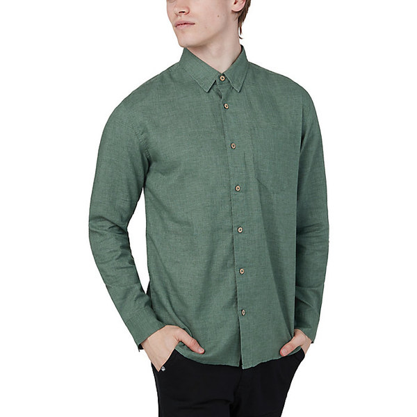 テンツリー メンズ シャツ トップス Tentree Men's Mancos Hemp Button Up Shirt Forest Green