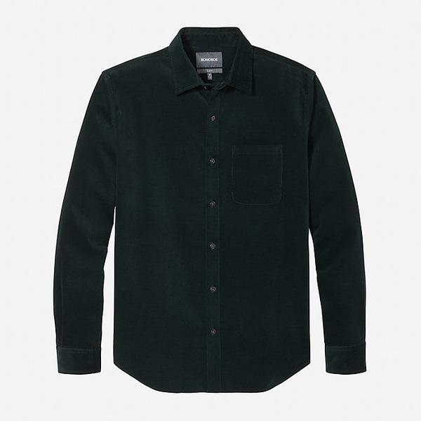 ボノボス メンズ シャツ トップス Bonobos Men's The Cord Shirt Green Space