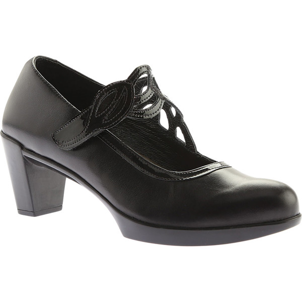 ナオト レディース ヒール シューズ Luma Black Madras Leather/Crinkle Patent Leather
