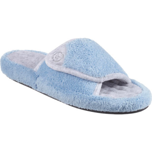 アイソトナー レディース サンダル シューズ Microterry Pillowstep Spa Slide w/Memory Foam Blue Moon