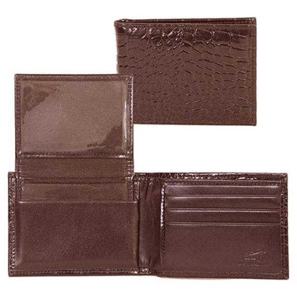 スカーリー メンズ 財布 アクセサリー Slim Billfold w/Removable Case Croco 2005R Dark Brown