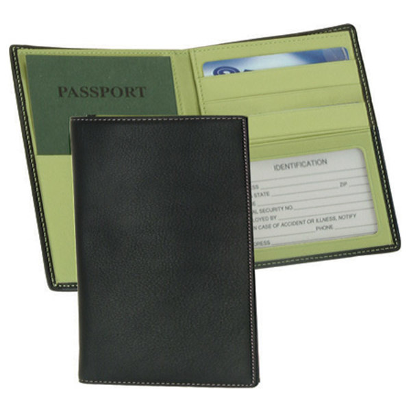 ロイスレザー メンズ 財布 アクセサリー Passport Currency Wallet 222-5 Black/Key Lime Green Leather