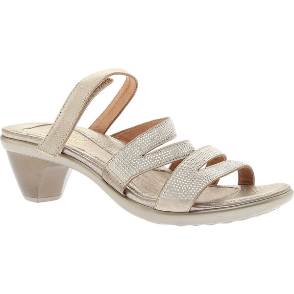 ナオト レディース サンダル シューズ Formal Sandal Beige/Silver Rivets/Gold Threads Leather
