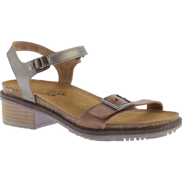 ナオト レディース サンダル シューズ Boho Ankle Strap Sandal Latte Brown/Pewter Leather