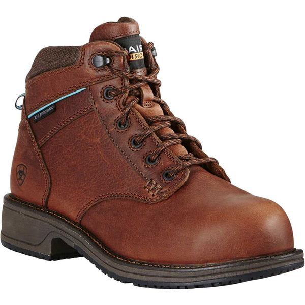 アリアト レディース ブーツ&レインブーツ シューズ Casual SD Composite Toe Lace Work Boot Nutty Brown Full Grain Leather