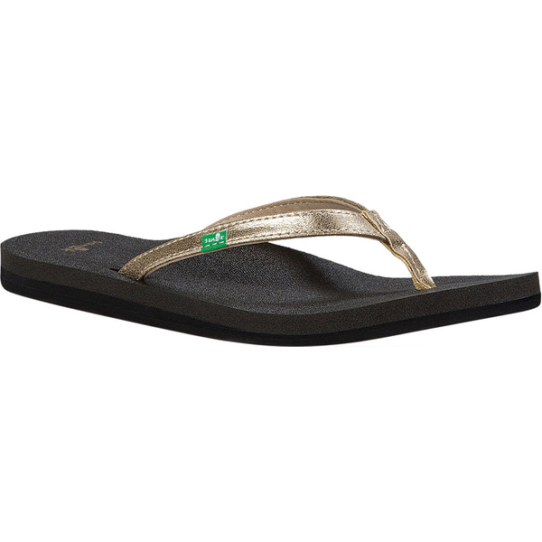 サヌーク レディース サンダル シューズ Yoga Joy Metallic Thong Sandal Champagne Metallic Synthetic
