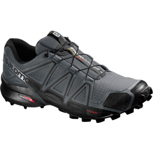 サロモン メンズ スニーカー シューズ Speedcross 4 Trail Running Shoe Dark Cloud/Black/Pearl Grey