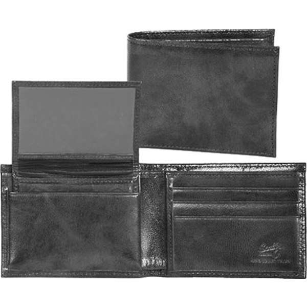スカーリー メンズ 財布 アクセサリー Slim Billfold Removable Case Italian Leather 2005R Black