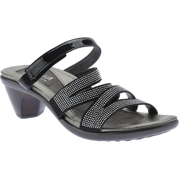 ナオト レディース サンダル シューズ Formal Sandal Black/Silver Rivets/Black Patent Leather