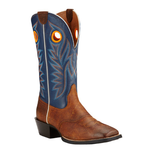 アリアト メンズ ブーツ&レインブーツ シューズ Sport Outrider Cowboy Boot Pinecone/Federal Blue Full Grain Leather