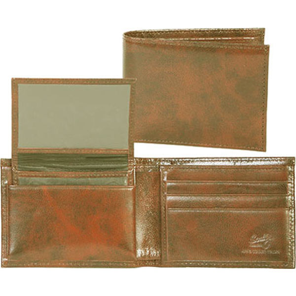 スカーリー メンズ 財布 アクセサリー Slim Billfold Removable Case Italian Leather 2005R Cognac