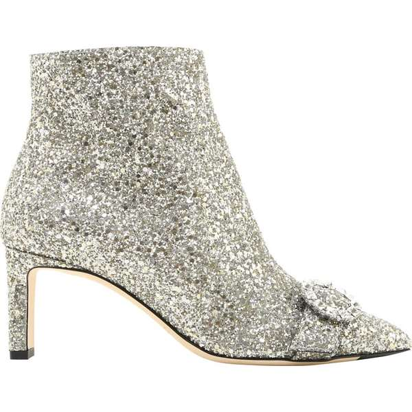 ジミーチュー レディース ブーツ&レインブーツ シューズ Hanover 65mm Shadow Coarse Glitter Bootie Chai/Crystal Shadow Coarse Glitter Fabric