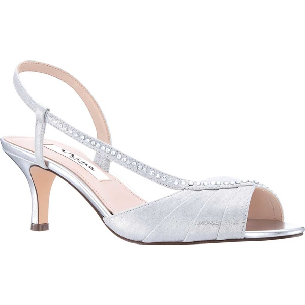 ニナ レディース サンダル シューズ Cabell Slingback True Silver Metallic Synthetic