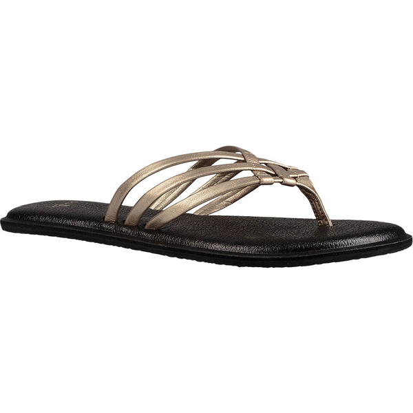 サヌーク レディース サンダル シューズ Yoga Salty Metallic Flip Flop Champagne Synthetic