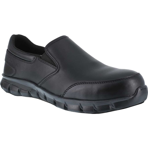 リーボック メンズ スニーカー シューズ Sublite Cushion Work RB4036 Slip-On Black Leather