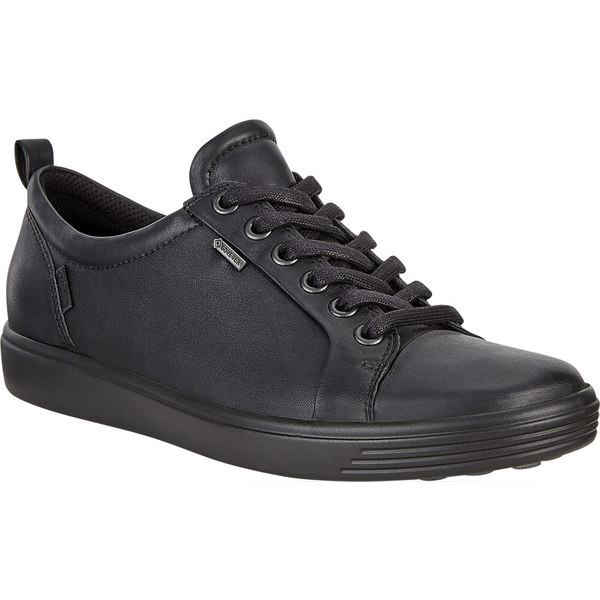 エコー レディース スニーカー シューズ Soft 7 GORE-TEX Tie Sneaker Black Cow Leather