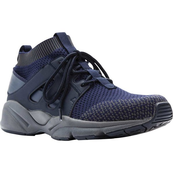 プロペット メンズ スニーカー シューズ Stability Strider High Top Navy Mesh/Microfiber