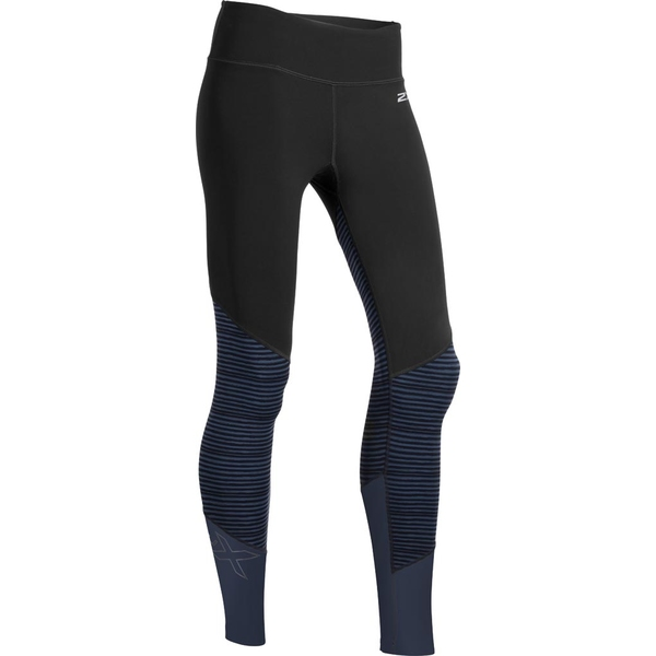 2XU レディース レギンス ボトムス Fitness Mid Colour Block Tight Black/Outer Space Stripe