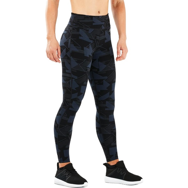 2XU レディース レギンス ボトムス Print Fitness Mid Rise Tight Outer Space Stairways/Silver