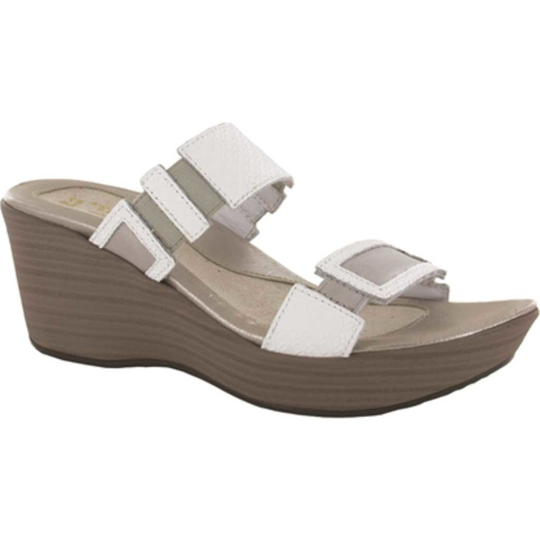 ナオト レディース サンダル シューズ Treasure Wedge Sandal White Diamond/Quartz Leather