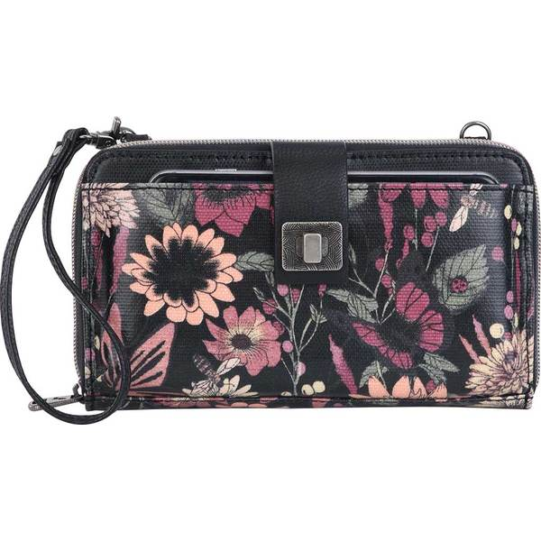 サックルーツ メンズ ビジネス系 バッグ Artist Circle Large Smartphone Crossbody Graphite In Bloom