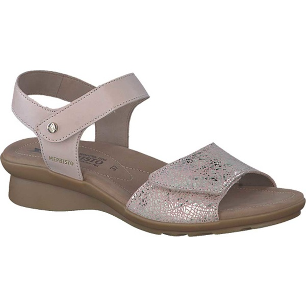 メフィスト レディース サンダル シューズ Pattie Quarter Strap Sandal Light Taupe Silk/Nude Crash Smooth Leather