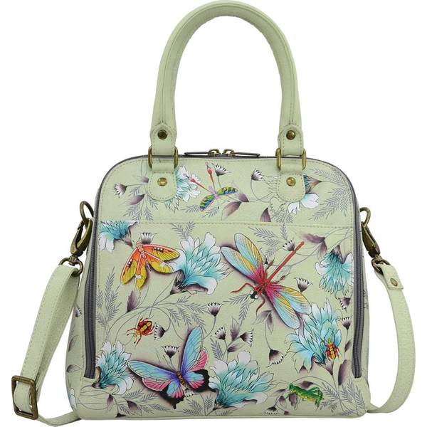 アヌシュカ レディース ハンドバッグ バッグ Hand Painted Zip Around Convertible Satchel Wondrous Wings