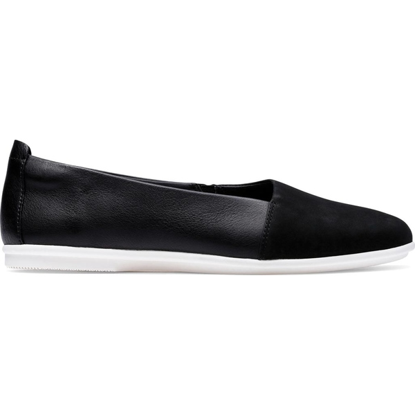 クラークス レディース サンダル シューズ Un Coral Step Ballet Flat Black Nubuck/Leather Combo