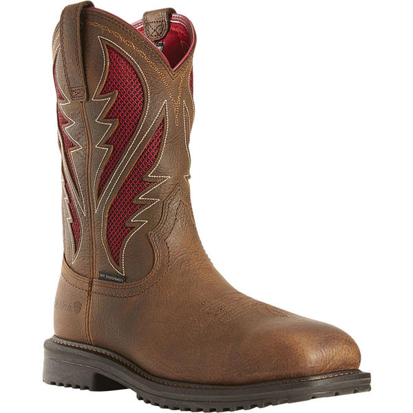 アリアト メンズ ブーツ&レインブーツ シューズ RigTek VentTEK Composite Toe Boot Rye Brown/Red Full Grain Leather