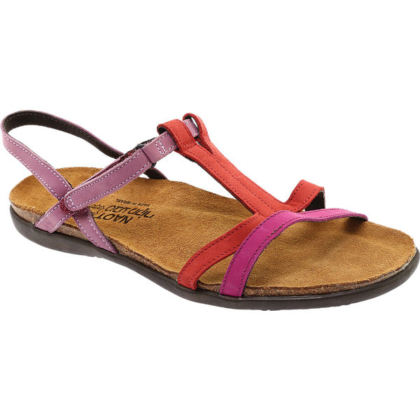 ナオト レディース サンダル シューズ Judith T Strap Sandal Pink Plum/Brick Red/Lilac Nubuck Leather