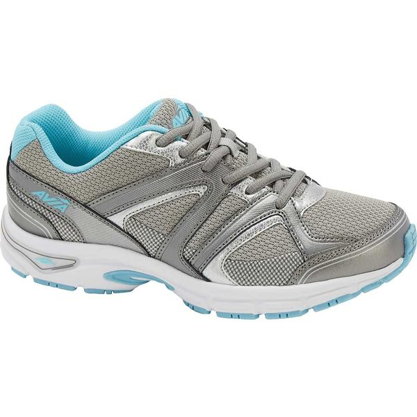 アビア レディース スニーカー シューズ AVI-Execute II Running Shoe Chrome Silver/Metallic Steel Grey/Topaz Blue