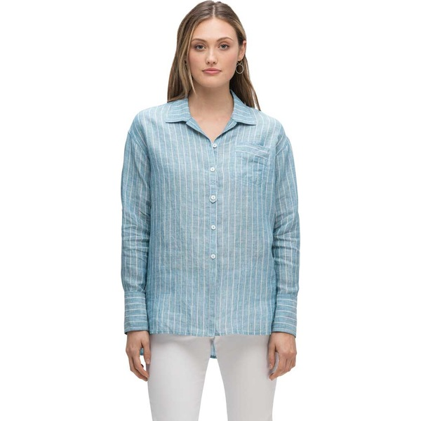 ナウ レディース シャツ トップス Dardariel Long Sleeve Shirt Light Blue Stripe