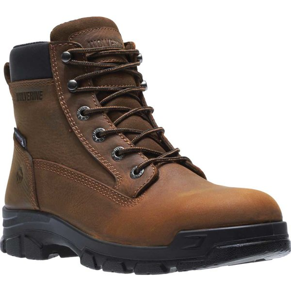 ウルヴァリン メンズ ブーツ&レインブーツ シューズ Chainhand Waterproof Steel Toe Work Boot Brown Full Grain Leather