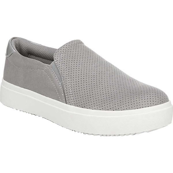 ドクター・ショール レディース スニーカー シューズ Wink Slip-On Platform Sneaker Grey Cloud Perforated Microfiber