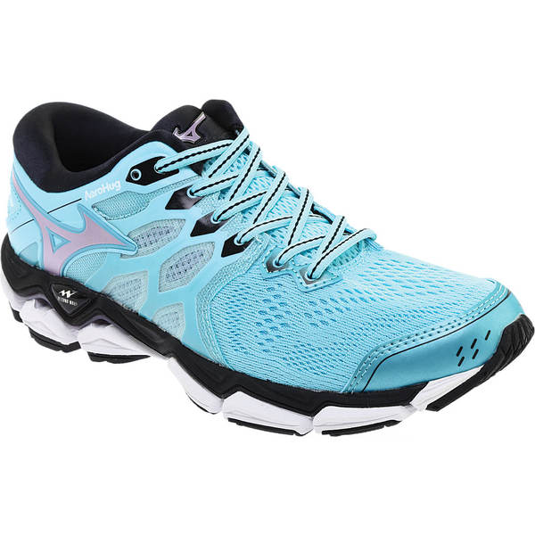 ミズノ レディース スニーカー シューズ Wave Horizon 3 Running Shoe Angel Blue/Lavender Frost