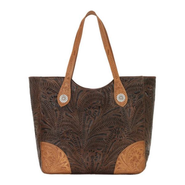 アメリカンウェスト レディース ハンドバッグ バッグ Annie's Secret Large Secret Compartment Tote Chestnut Brown/Golden Tan