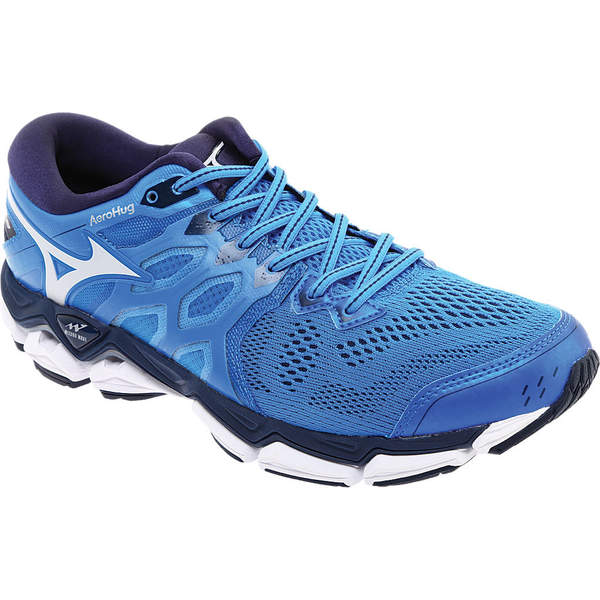 ミズノ メンズ スニーカー シューズ Wave Horizon 3 Running Shoe Brilliant Blue/Cloud
