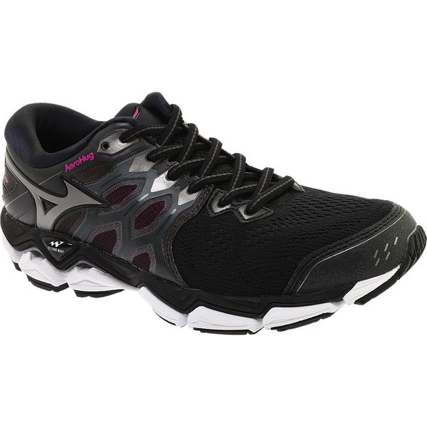 ミズノ レディース スニーカー シューズ Wave Horizon 3 Running Shoe Black/Metallic Shadow