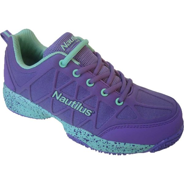 ヌウチルス レディース スニーカー シューズ N2157 Composite Toe Work Shoe Purple/Aqua Nylon Coated Mesh/Synthetic Leather