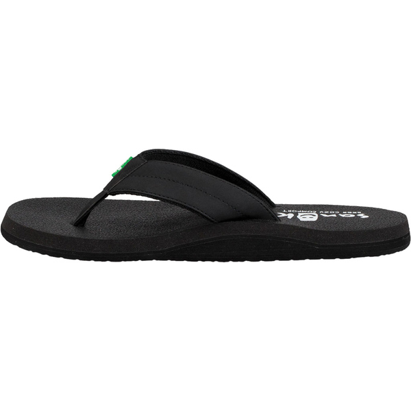 サヌーク メンズ サンダル シューズ Beer Cozy Coaster Thong Sandal Black SyntheticwkN8nZ0PXO