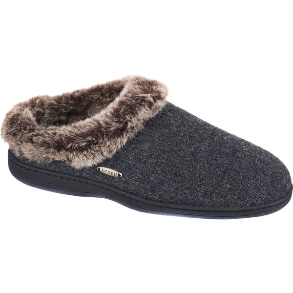 エイコーン レディース サンダル シューズ Chinchilla Clog Ragg Dark Charcoal Heather Ragg Wool