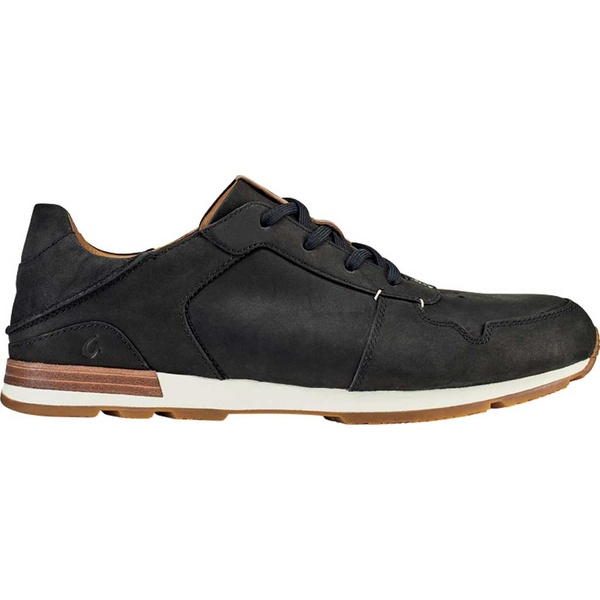 オルカイ メンズ スニーカー シューズ Huaka'i Li Sneaker Black/Black Nubuck Leather
