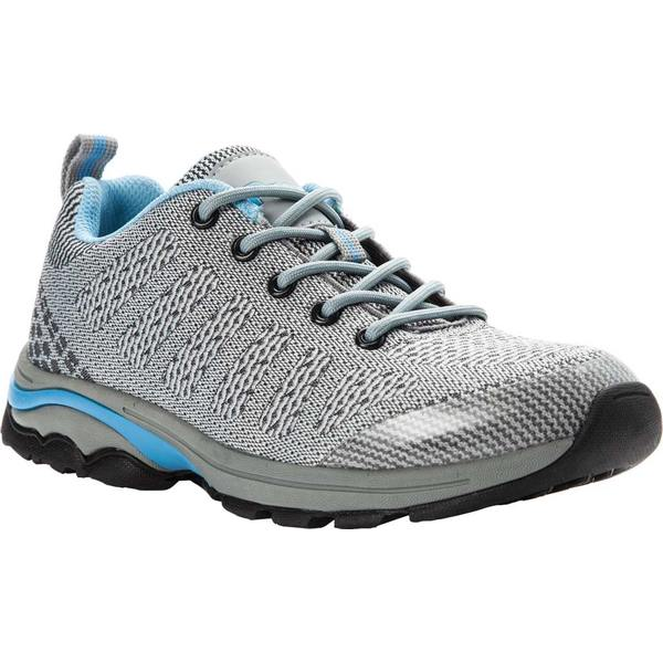 プロペット レディース スニーカー シューズ Petra Sneaker Light Grey/Light Blue Waterproof Knit
