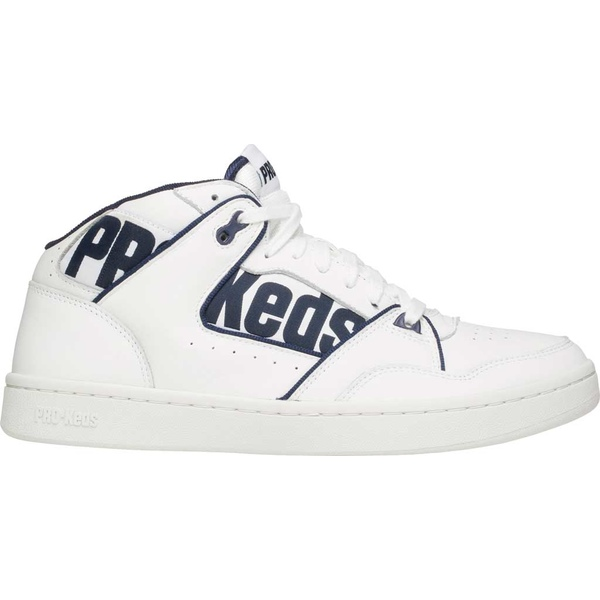 ケッズ メンズ スニーカー シューズ PRO-Keds Jumpshot Leather Sneaker White/Navy Leather