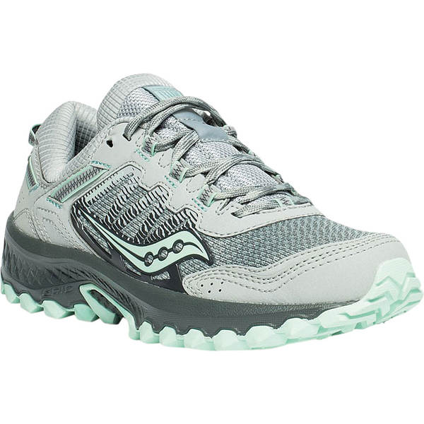 サッカニー レディース スニーカー シューズ Versafoam Excursion TR13 Running Sneaker Grey/Honeydew Trail Specific Mesh