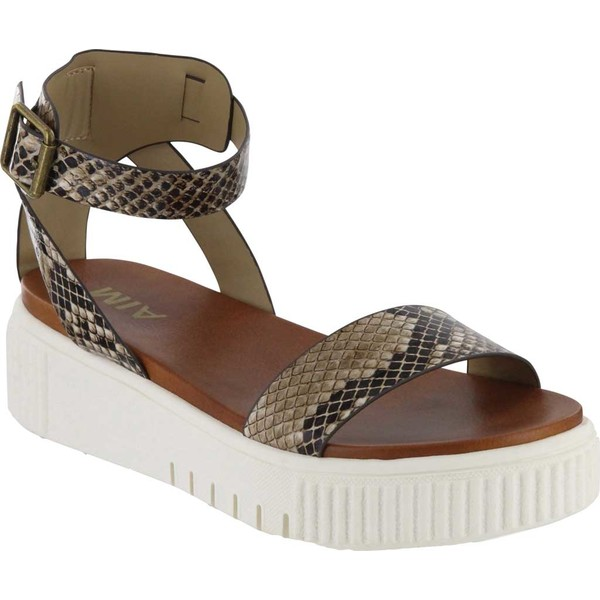 ミア レディース サンダル シューズ Lunna Athletic Sandal Beige Snake Print Vegan Leather