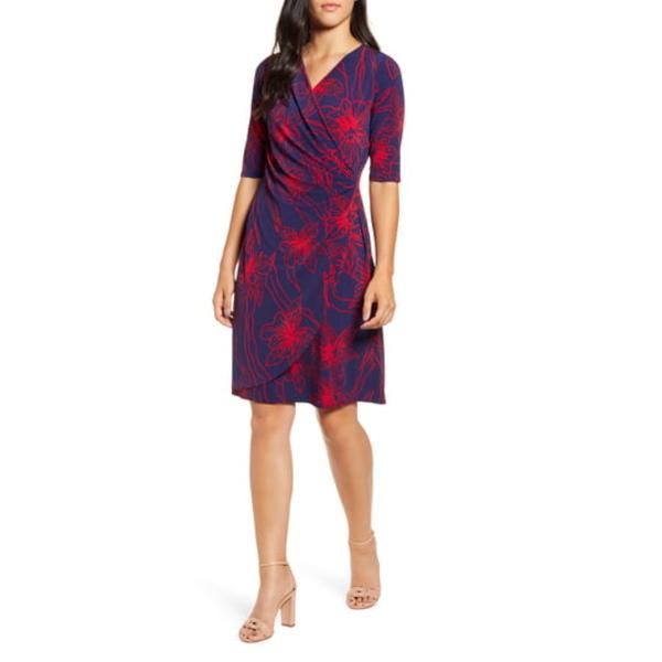 トッミーバハマ レディース ワンピース トップス Vista Blooms Wrap Front Dress Jester Red