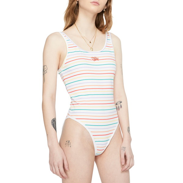 ナイキ レディース ワンピース トップス Sportswear Retro Stripe Bodysuit Tracre