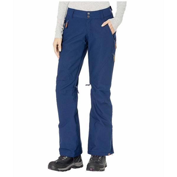 ロキシー レディース カジュアルパンツ ボトムス Cabin Snow Pants Medieval Blue