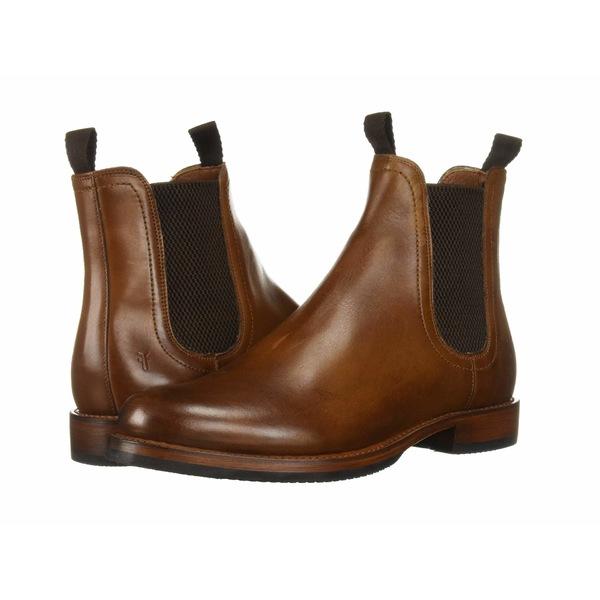 フライ メンズ ブーツ&レインブーツ シューズ Sawyer Chelsea Cognac Dip-Dye Leather